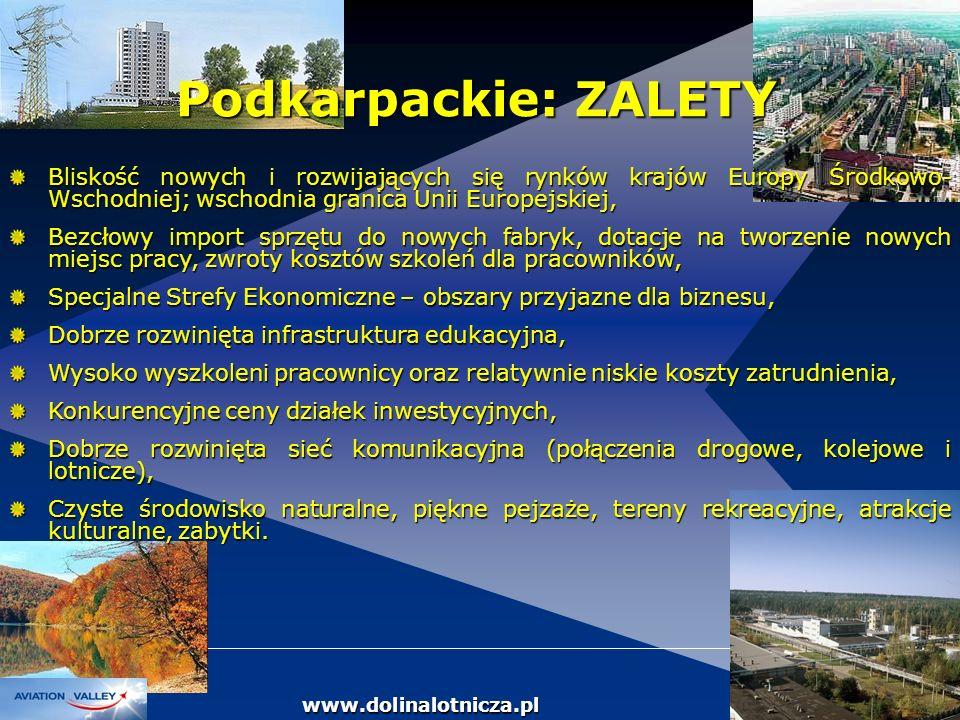 DOLINA LOTNICZA Bliskość nowych i rozwijających się rynków krajów Europy Środkowo- Wschodniej; wschodnia granica Unii Europejskiej, Bezcłowy import sp
