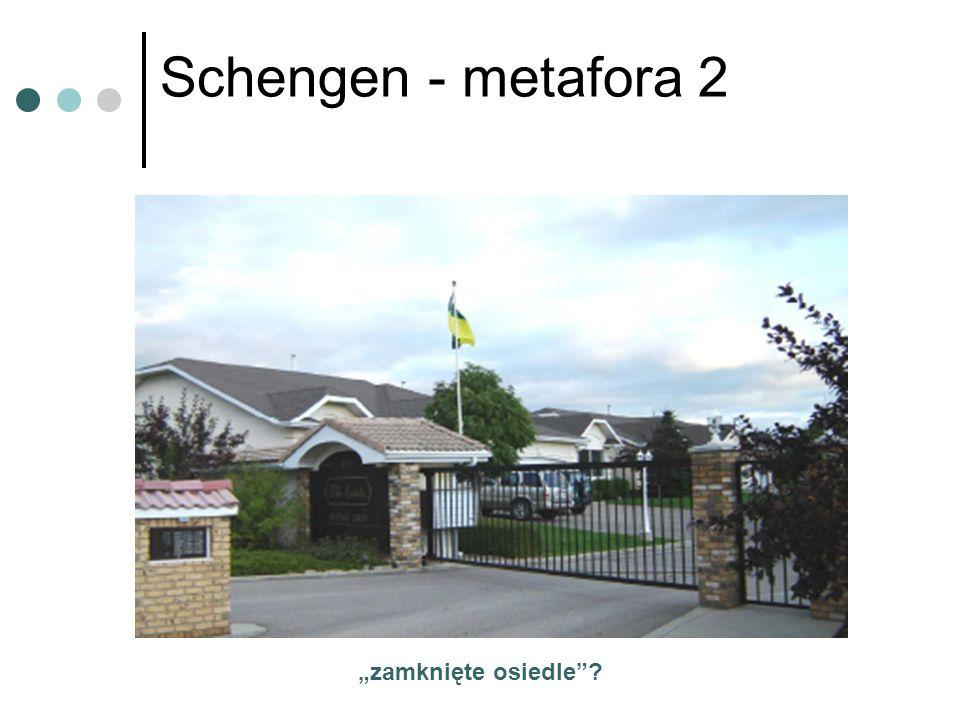 Schengen - metafora 2 zamknięte osiedle?
