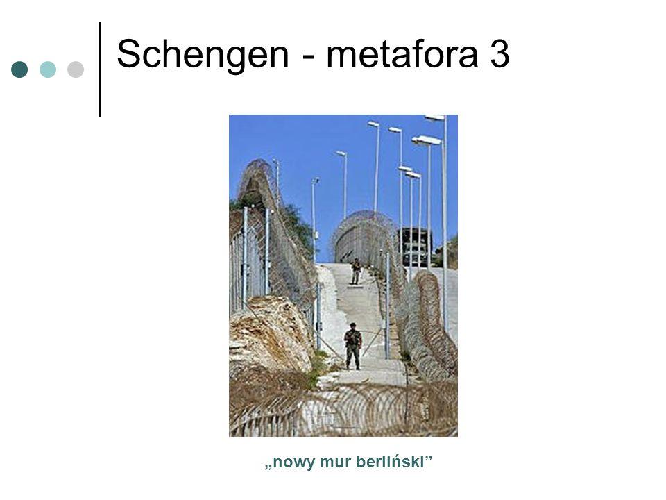 Schengen - metafora 3 nowy mur berliński