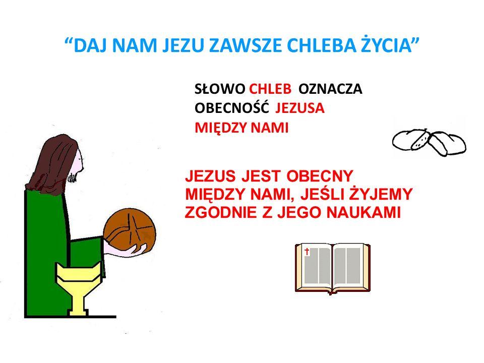 Cliccate per modificare il formato del testo della struttura strutturNono livello struttura DAJ NAM JEZU ZAWSZE CHLEBA ŻYCIA SŁOWO CHLEB OZNACZA OBECN