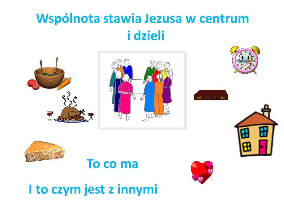 Wspólnota stawia Jezusa w centrum i dzieli To co ma I to czym jest z innymi