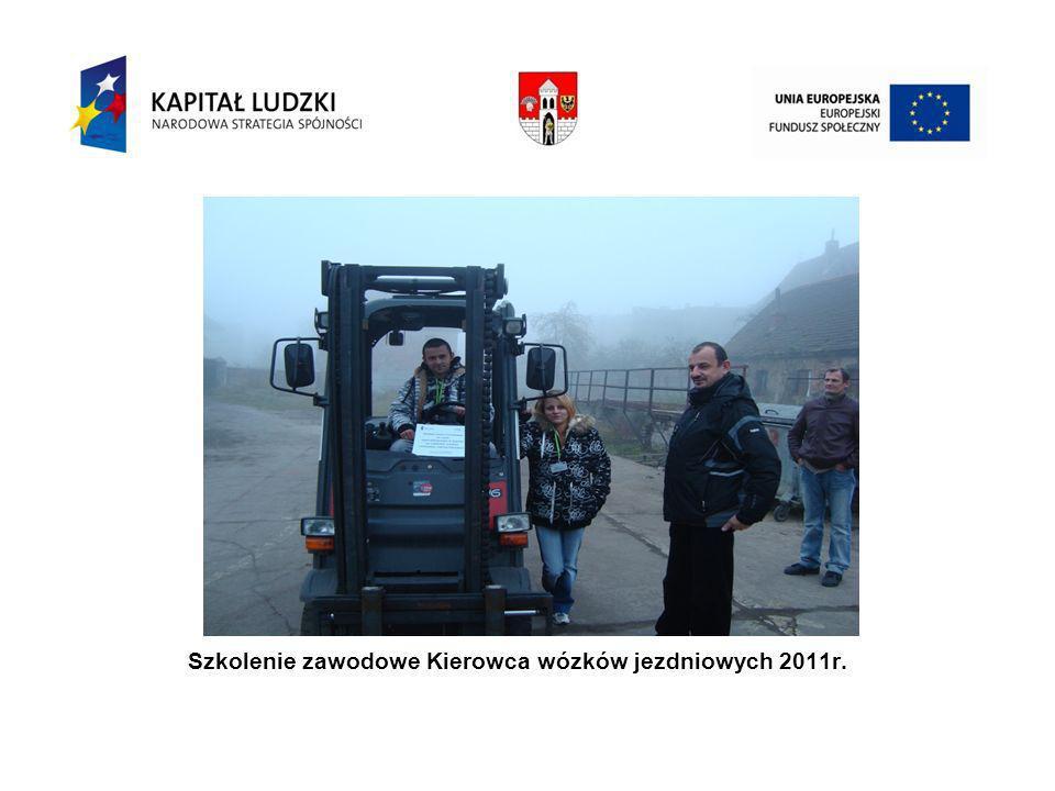 Ku Szkolenie zawodowe Kierowca wózków jezdniowych 2011r.