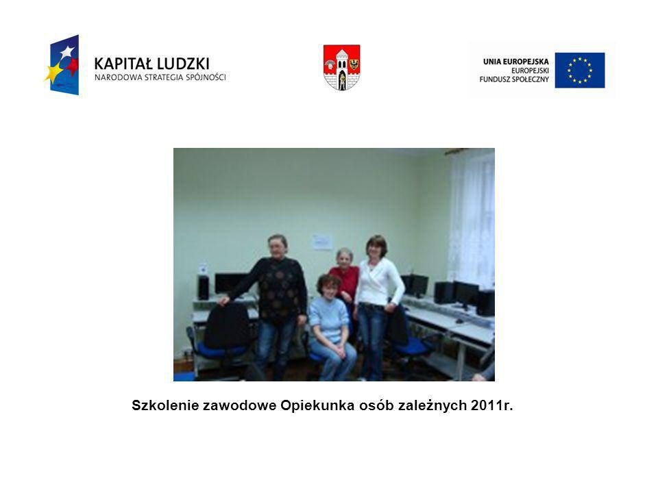 Szkolenie zawodowe Opiekunka osób zależnych 2011r.