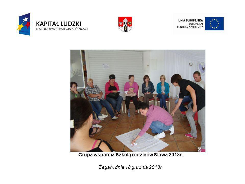 Grupa wsparcia Szkołą rodziców Sława 2013r. Żagań, dnia 18 grudnia 2013r.