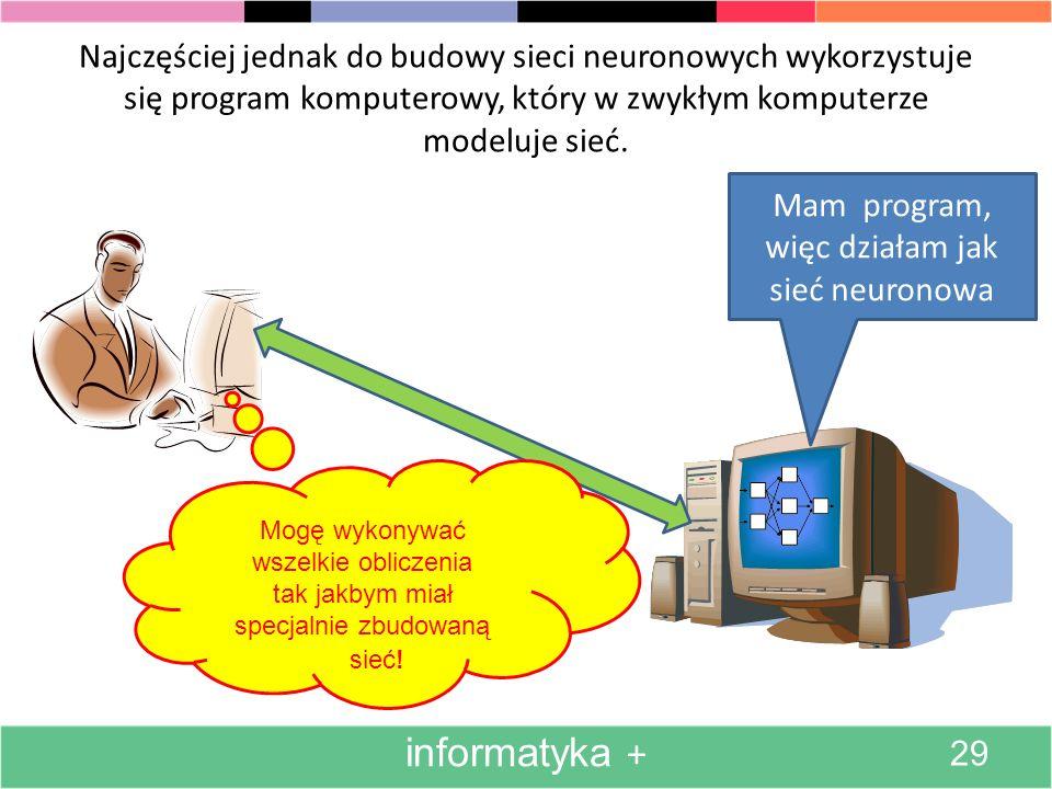 Obecnie jeśli do budowy sieci neuronowych stosowane urządzenia elektroniczne (a są stosowane rzadko), to występują w postaci specjalizowanych układów scalonych.