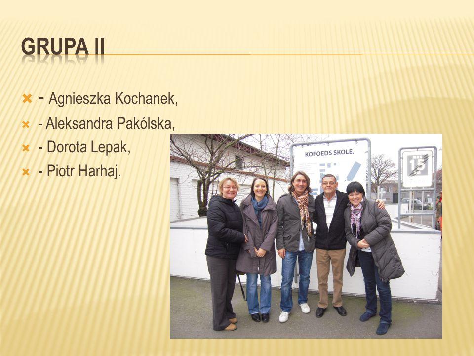 - Agnieszka Kochanek, - Aleksandra Pakólska, - Dorota Lepak, - Piotr Harhaj.