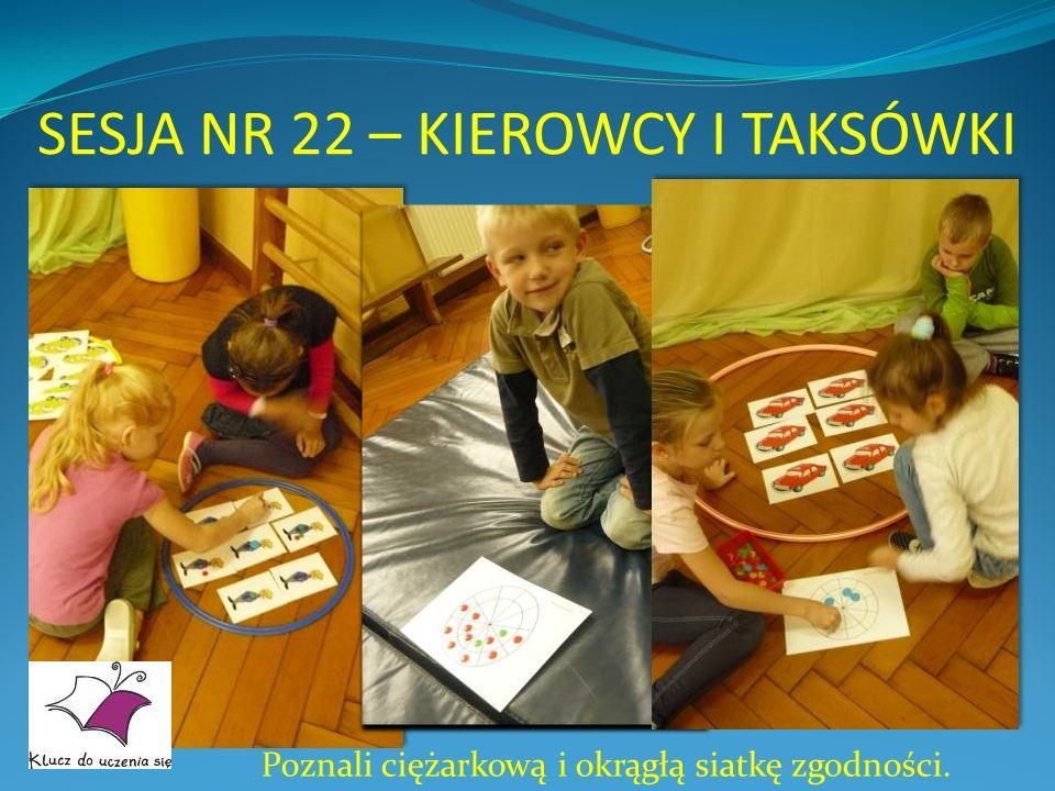 SESJA NR 22 – KIEROWCY I TAKSÓWKI Poznali ciężarkową i okrągłą siatkę zgodności.