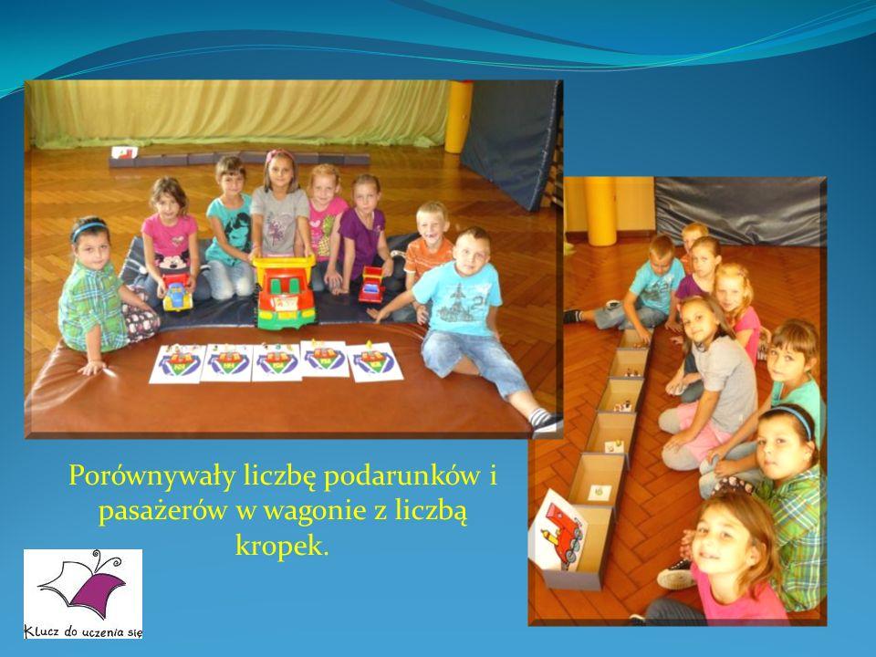 SESJA NR 31 – PROSZĘ WSIADAC DO SPECJALNEGO POCIĄGU LICZBOWEGO Dzieci bardzo chętnie bawiły się w pociąg.