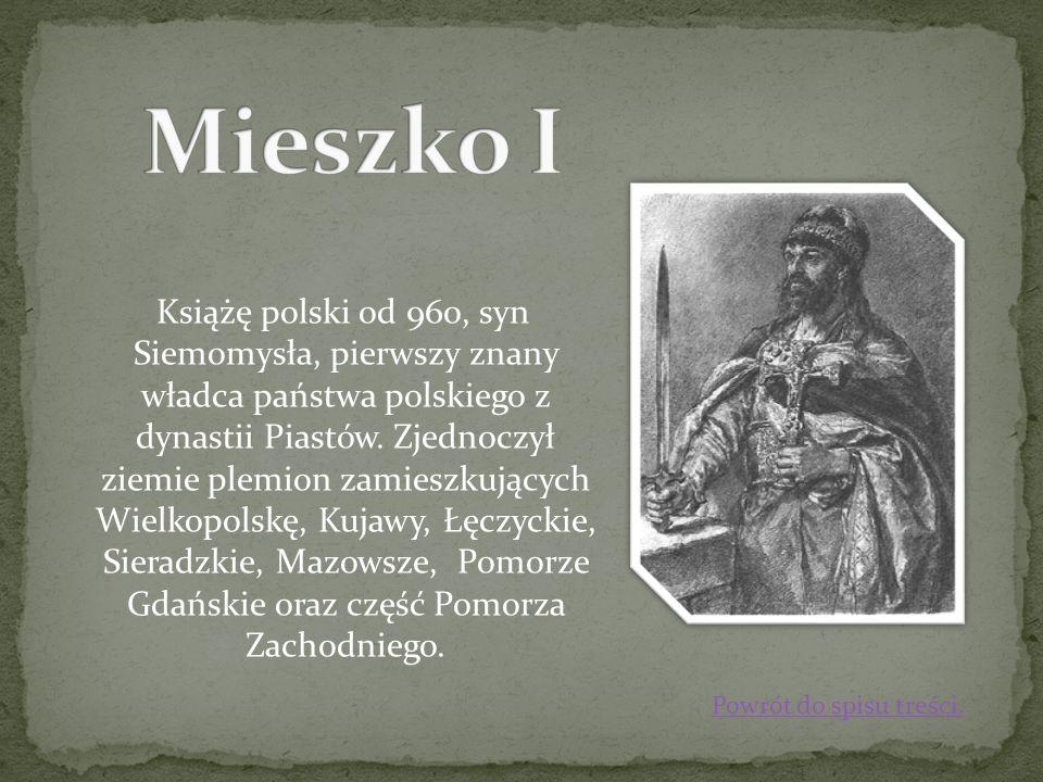 Książę polski od 960, syn Siemomysła, pierwszy znany władca państwa polskiego z dynastii Piastów. Zjednoczył ziemie plemion zamieszkujących Wielkopols