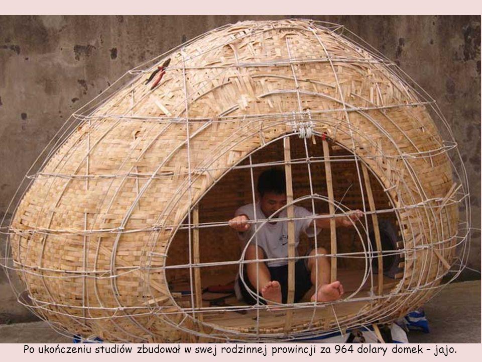 Dai Haifei, 24 letni absolwent architektury z Pekinu, zbudował sobie nietypowe lokum, gdyż nie było go stać na opłacenie czynszu za wynajęcie mieszkan