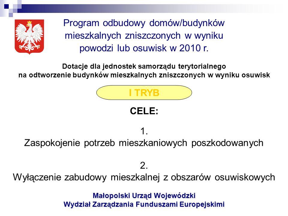 Małopolski Urząd Wojewódzki Wydział Zarządzania Funduszami Europejskimi Dziękuję!