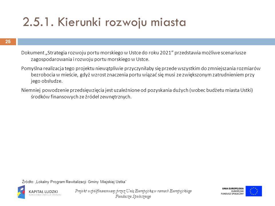 2.5.1. Kierunki rozwoju miasta Dokument Strategia rozwoju portu morskiego w Ustce do roku 2021 przedstawia możliwe scenariusze zagospodarowania i rozw