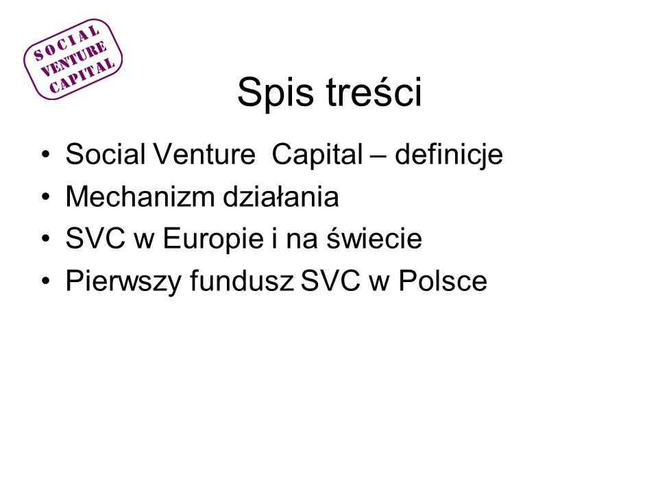 Co to jest.Social venture capital – wg.