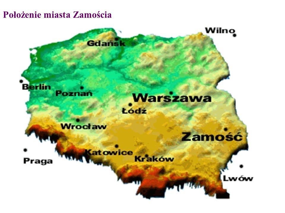 Położenie miasta Zamościa