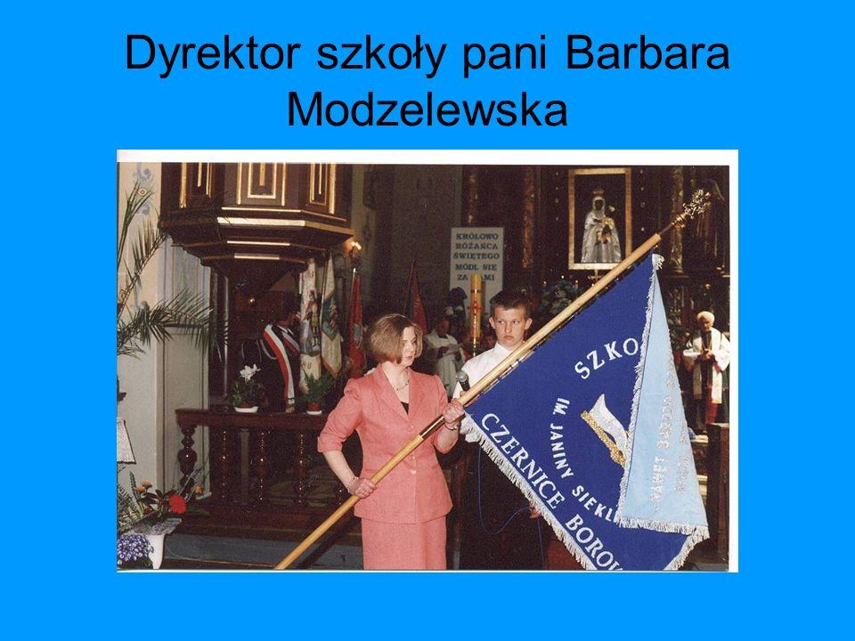 Dyrektor szkoły pani Barbara Modzelewska