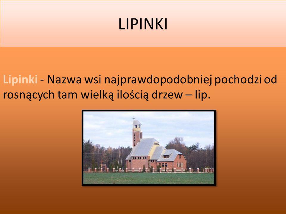 2014-03-02 LIPINKI Lipinki - Nazwa wsi najprawdopodobniej pochodzi od rosnących tam wielką ilością drzew – lip.