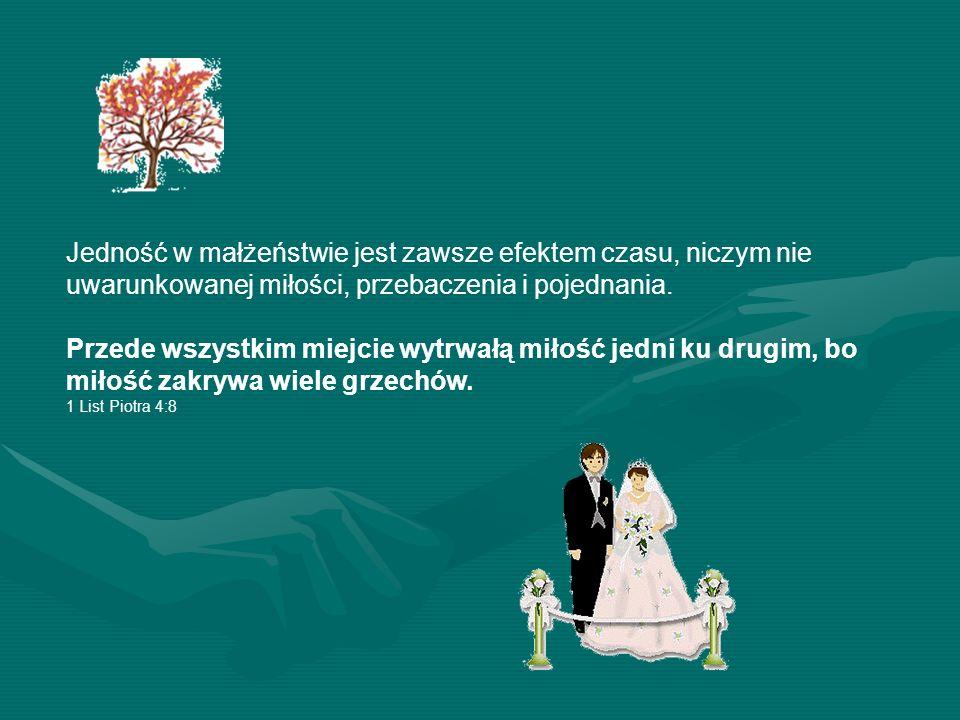 Tajemnica dobrego funkcjonowania małżeństwa w jedności polega na tym, by w momencie konfliktu przynajmniej jedna ze stron chciała przebaczyć i dążyła do pojednania.