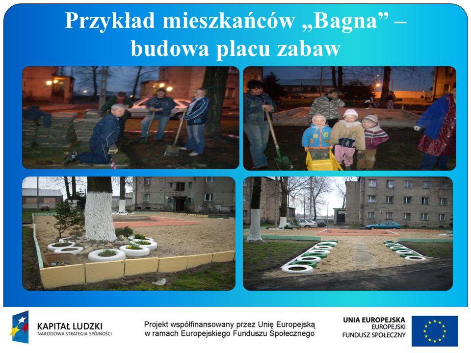 Przykład mieszkańców Bagna – budowa placu zabaw