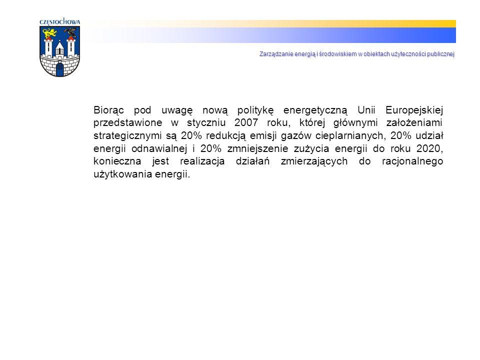 Biorąc pod uwagę nową politykę energetyczną Unii Europejskiej przedstawione w styczniu 2007 roku, której głównymi założeniami strategicznymi są 20% re