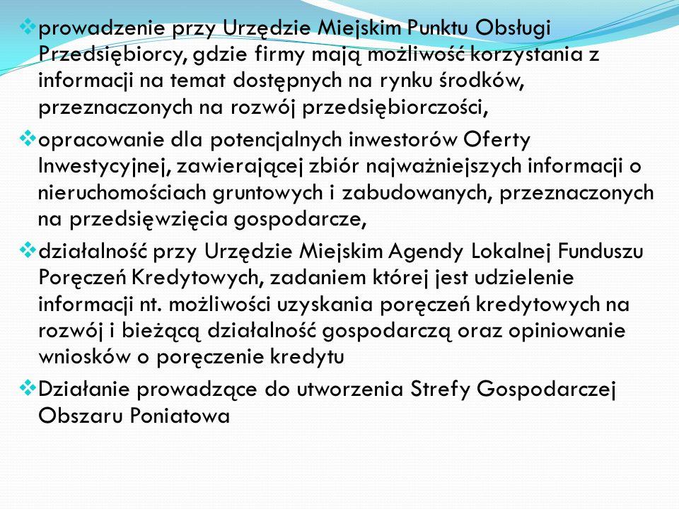 Gmina Wałbrzych wspiera działalność małych i średnich, lokalnych przedsiębiorstw, na których w zasadniczej części opiera się rozwój gospodarczy miasta