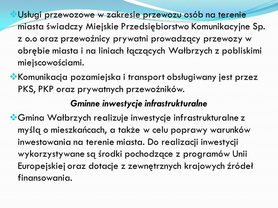 Kanalizacja deszczowa Kanalizacja deszczowa w Wałbrzychu eksploatowana jest przez Zarząd Dróg i Komunikacji Długość sieci - ok. 163 km, na której usyt