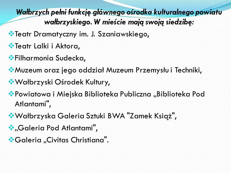 Oświata i Kultura Na terenie Wałbrzycha funkcjonują szkoły podstawowe, gimnazjalne oraz szkoły ponadgimnazjalne. Wałbrzych, jako lokalne centrum eduka