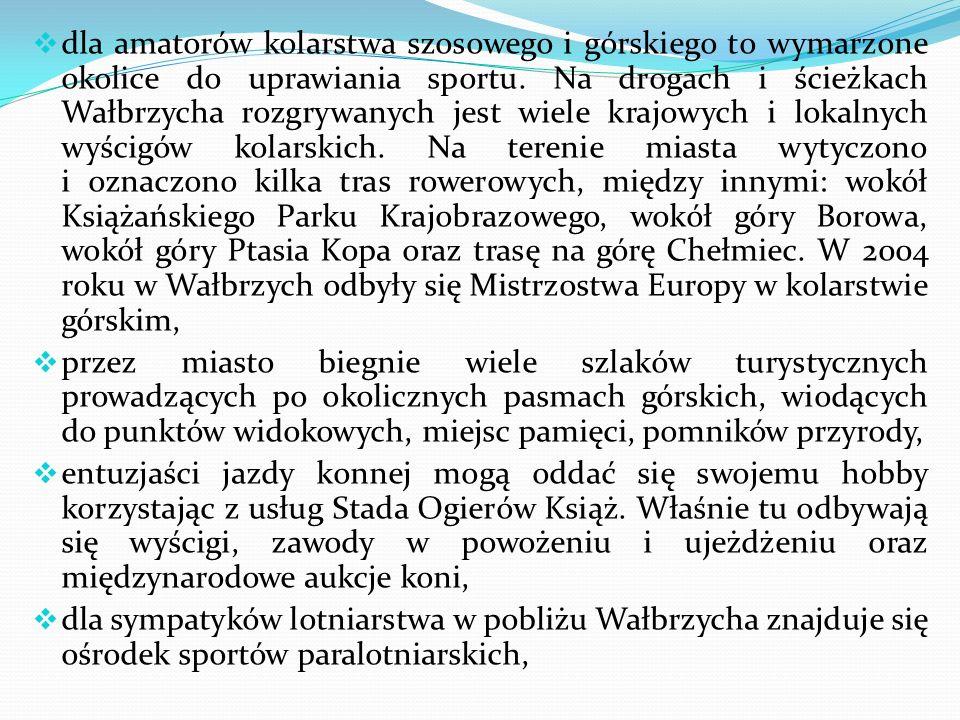 VIII – Turystyka Malownicze położenie w Górach Wałbrzyskich, niedalekie sąsiedztwo Gór Kamiennych i Sowich, zabytki, obiekty rekreacyjne - to wszystko