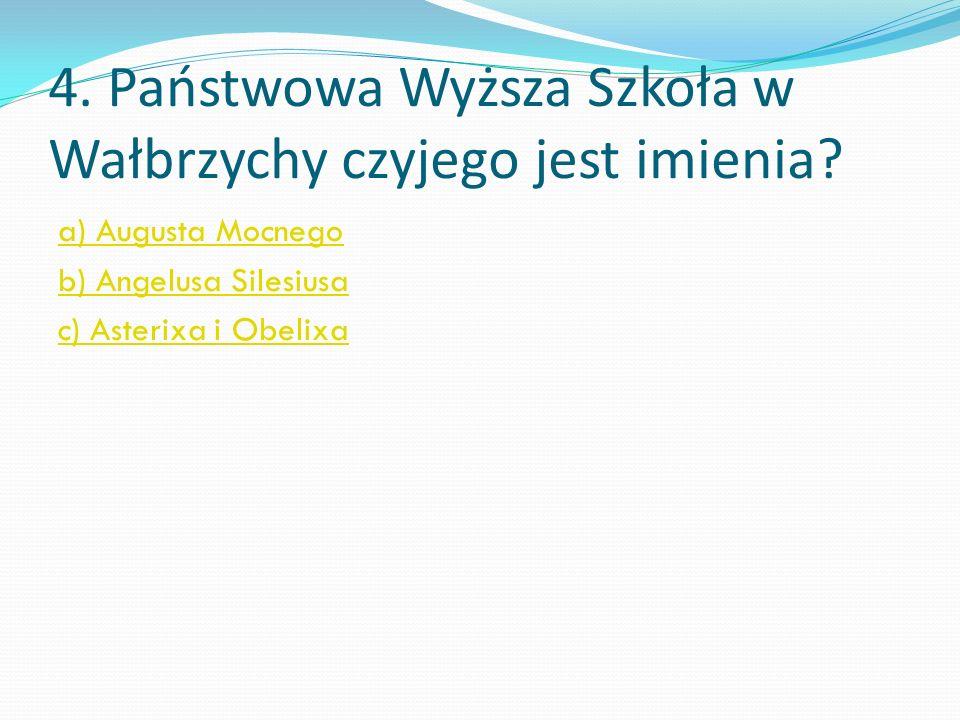 3. W którym wieku Wałbrzych otrzymał prawa miejskie? a) XIV b) XVI c) XV dobrze