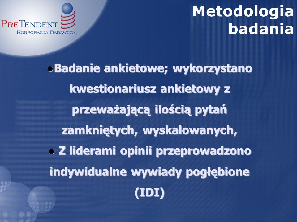 Badanie przeprowadzono w dniach 14 – 16 czerwca 2007 r., na próbie 427 osób, pasażerów jadących pociągami relacji Warszawa – Krynica – Warszawa (176 osób) oraz Warszawa – Częstochowa – Warszawa (103 osoby).
