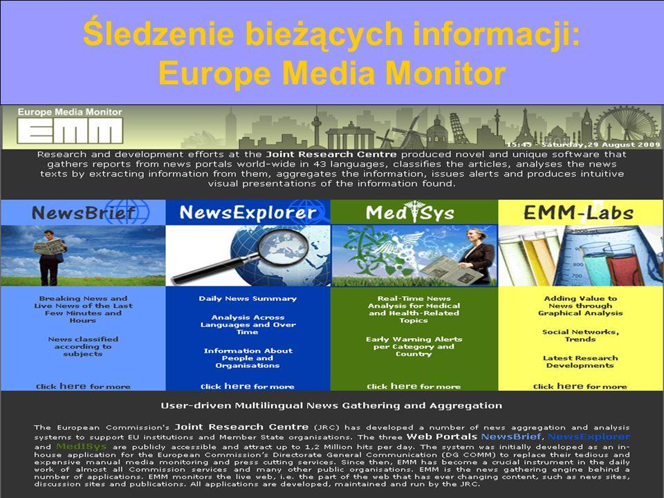 Europe on the Internet © Ian Thomson, Cardiff EDC, lipiec 2012 Tłumaczenie: Ewelina Bruździak, Anna Wilczewska Keeping up-to-date: EU sources Śledzeni
