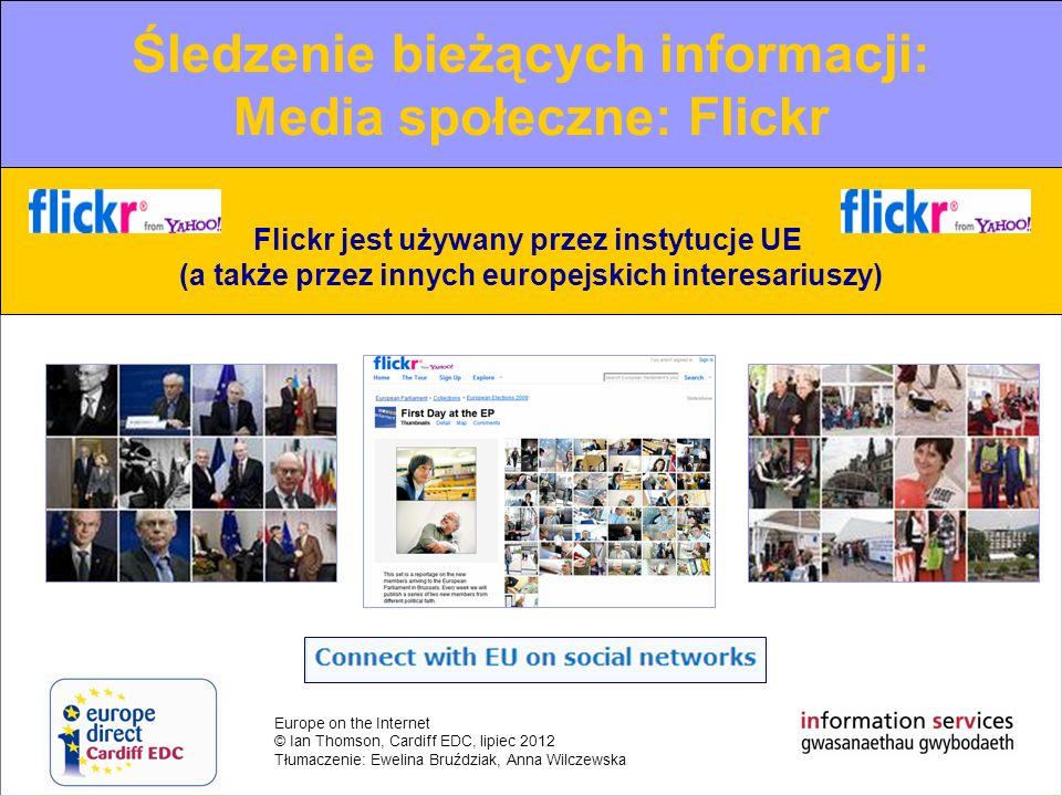 Europe on the Internet © Ian Thomson, Cardiff EDC, lipiec 2012 Tłumaczenie: Ewelina Bruździak, Anna Wilczewska The increasing role of new media Web 2.