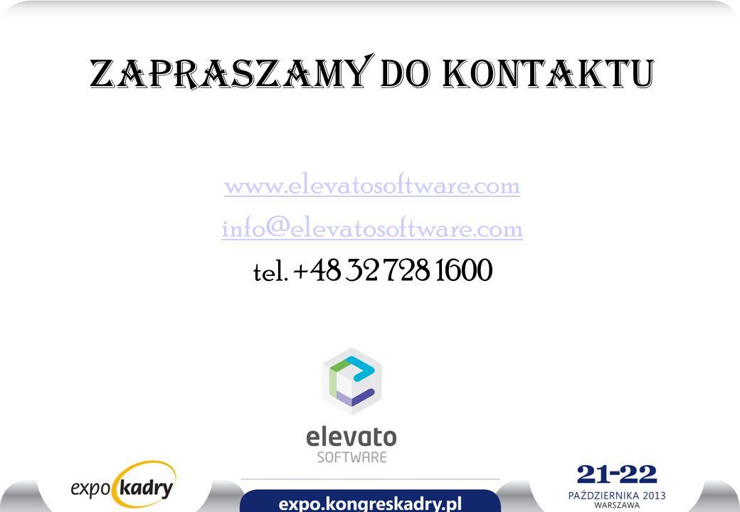 Zapraszamy do kontaktu www.elevatosoftware.com info@elevatosoftware.com tel. +48 32 728 1600