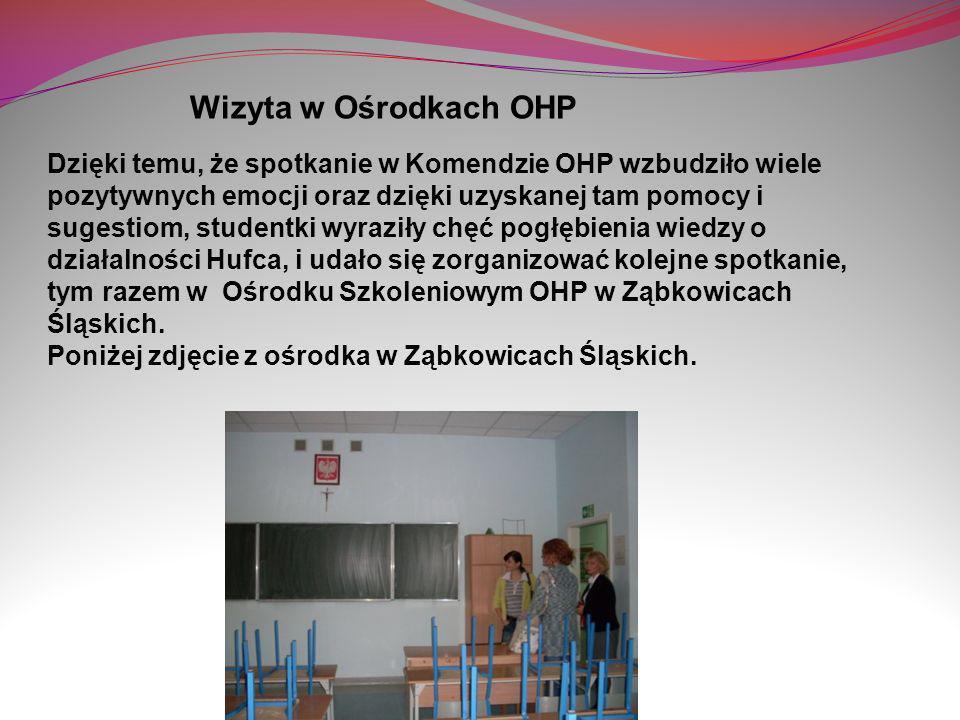 Dzięki temu, że spotkanie w Komendzie OHP wzbudziło wiele pozytywnych emocji oraz dzięki uzyskanej tam pomocy i sugestiom, studentki wyraziły chęć pog