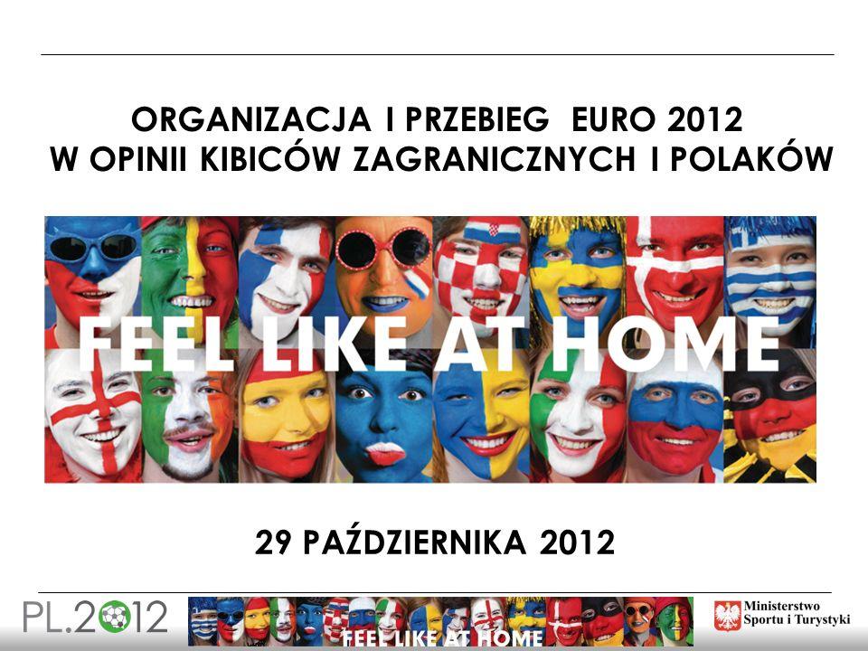 29 PAŹDZIERNIKA 2012 ORGANIZACJA I PRZEBIEG EURO 2012 W OPINII KIBICÓW ZAGRANICZNYCH I POLAKÓW