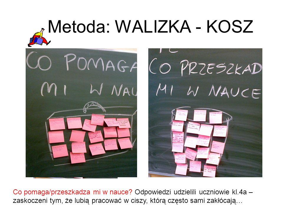 Metoda: TERMOMETR I dnia warsztatów filmowych badałam zaangażowanie uczniów w projekt.