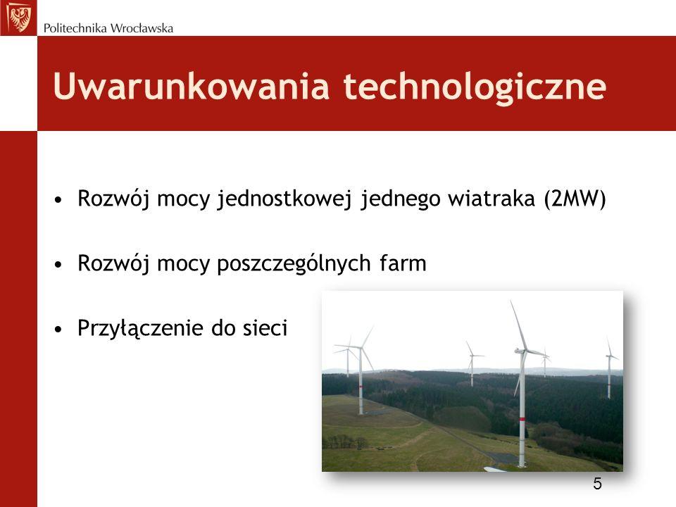 Uwarunkowania ekonomiczno-finansowe Koszty i efekty farm wiatrowych (inwestor) Koszt 1 MW wiatraka - 1,5 mln Euro 6