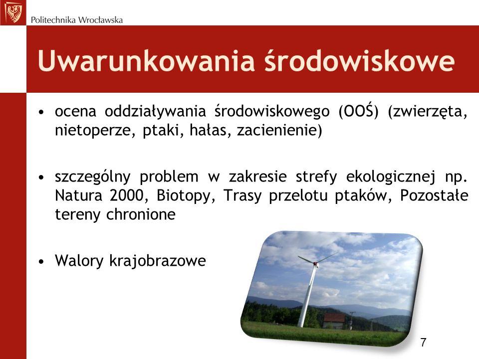 Uwarunkowania regionalne Strategia rozwoju energetyki w regionie: –scenariusz bezpieczeństwa, –scenariusz innowacyjny, –scenariusz środowiskowy 8