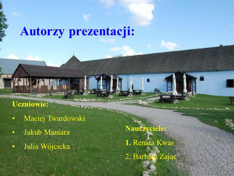 Autorzy prezentacji: Uczniowie: Maciej Twardowski Jakub Maniara Julia Wójcicka Nauczyciele: 1. Renata Kwas 2. Barbara Zając