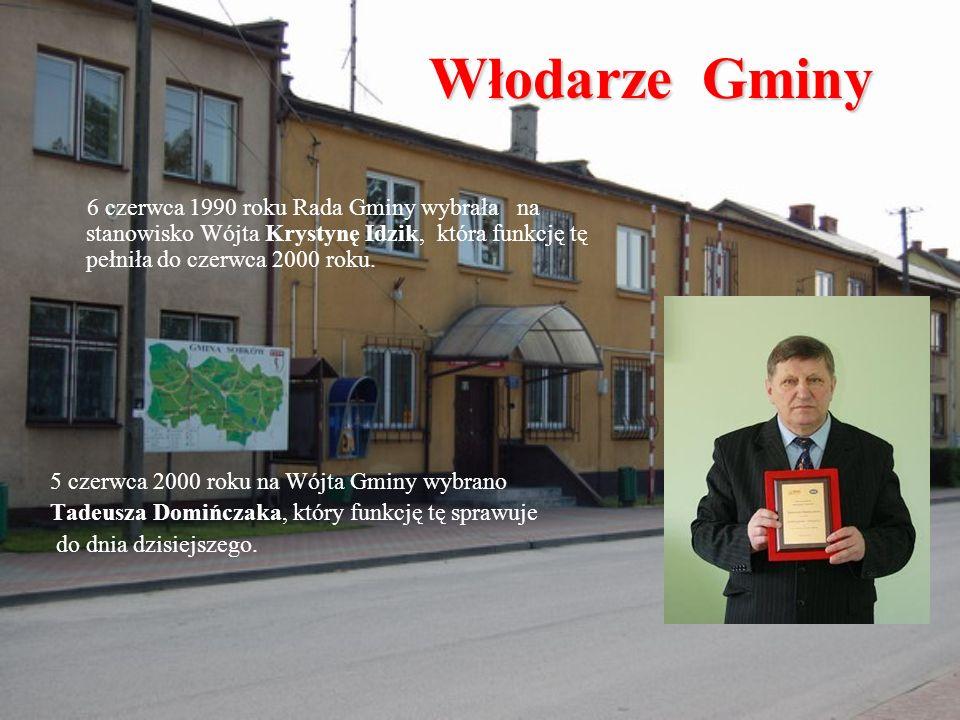 Włodarze Gminy 6 czerwca 1990 roku Rada Gminy wybrała na stanowisko Wójta Krystynę Idzik, która funkcję tę pełniła do czerwca 2000 roku. 5 czerwca 200