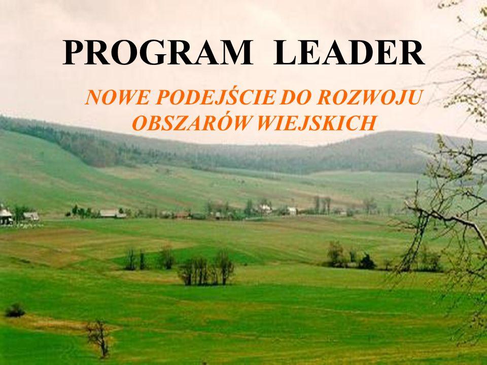 19 PROGRAM LEADER NOWE PODEJŚCIE DO ROZWOJU OBSZARÓW WIEJSKICH