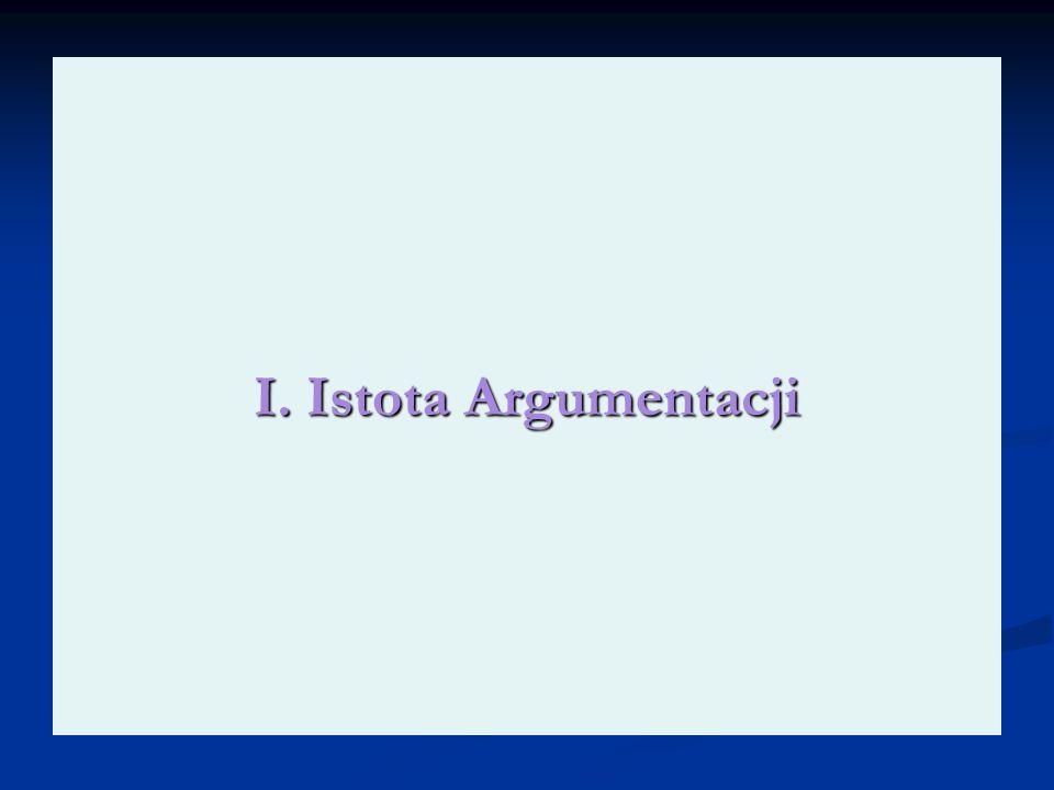 I. Istota Argumentacji