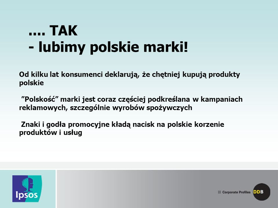 ....TAK - lubimy polskie marki.