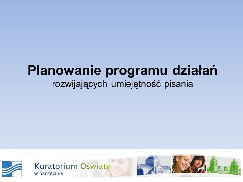 zaangażowanie sojuszników naszego planu rzetelne przedstawienie wyników diagnoz i analiz wspólne zdiagnozowanie przyczyn niskich wyników ustalenie celów ogólnych i szczegółowych opracowanie planu działań realizacja ewaluacja rekomendacje planowanie zmian Kolejne kroki w planowaniu działań