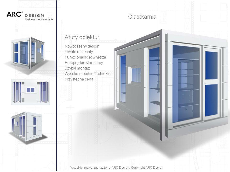 Atuty obiektu: Nowoczesny design Trwałe materiały Funkcjonalność wnętrza Europejskie standardy Szybki montaż Wysoka mobilność obiektu Przystępna cena