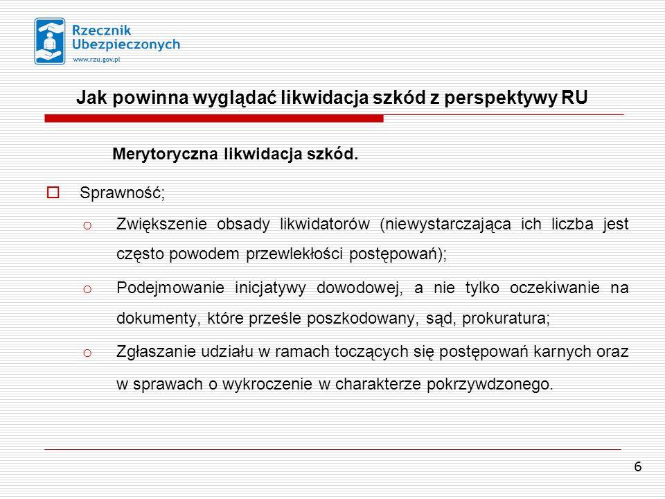 7 Profesjonalność; Jak powinna wyglądać likwidacja szkód z perspektywy RU o Wymóg kwalifikacji.