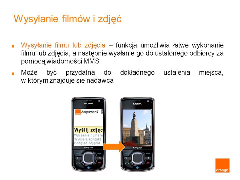 Wysyłanie filmów i zdjęć Wysyłanie filmu lub zdjęcia – funkcja umożliwia łatwe wykonanie filmu lub zdjęcia, a następnie wysłanie go do ustalonego odbi