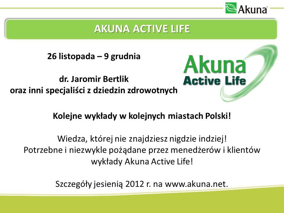 AKUNA ACTIVE LIFE Kolejne wykłady w kolejnych miastach Polski! Wiedza, której nie znajdziesz nigdzie indziej! Potrzebne i niezwykle pożądane przez men