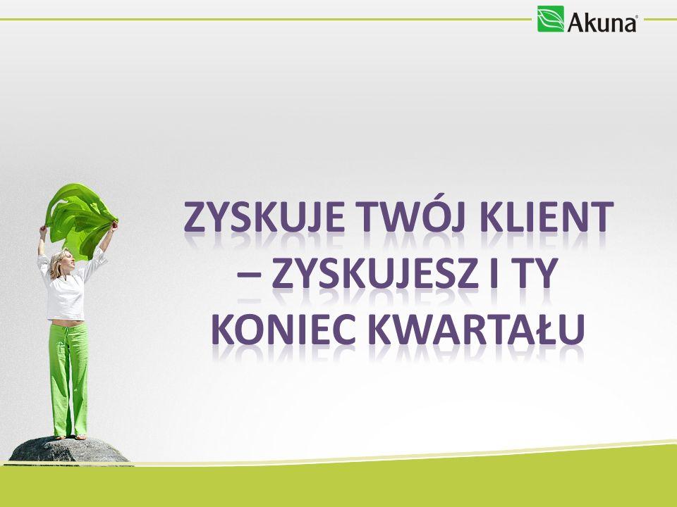 AUTOKAREM NA YOUR AKUNA DAY Wrocław Przykład kosztów innymi środkami transportu: - autokar 142 zł w obie strony - pociąg 160 zł w obie strony (z przesiadką) -autokar Akuna 62,25 zł 56,03 zł w obie strony Z Akuną oszczędzasz nawet do 103,97 zł Szczecin Przykład kosztów innymi środkami transportu: - autokar 384 zł w obie strony - pociąg 232 zł w obie strony (z przesiadką) -autokar Akuna 181,50 zł 127,05 zł w obie strony Z Akuną oszczędzasz nawet do 256,95 zł Rezerwacji możesz dokonać w e-sklepie do 30.06.2012 r.
