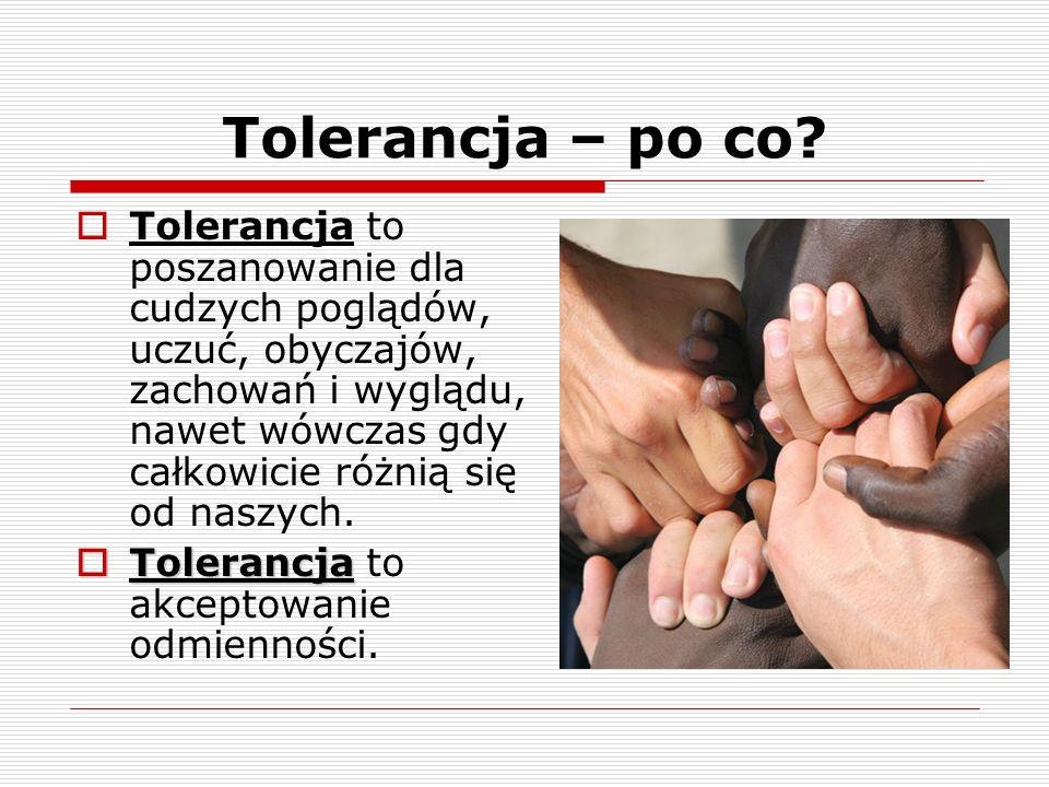 Tolerancja – po co.