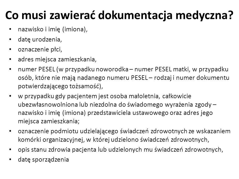 Podział dokumentacji medycznej Zbiorcza Wewnętrzna Zewnętrzna Indywidualna Wewnętrzna Zewnętrzna